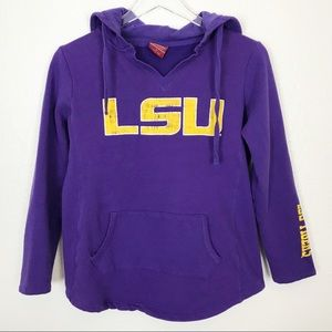 LSU TIGERS purple pullover hoodie sweatshirt | SM